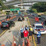 Jasa Marga Evaluasi Uji Coba Relokasi Titik Awal Contraflow Jalan Tol Dalam Kota Guna Maksimalkan Pengaturan Lalulintas Kendaraan dari Jalan Tol Jagorawi