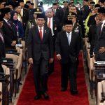 Presiden Jokowi Saksikan Pelantikan Anggota MPR/DPR/DPD RI Periode 2019-2024