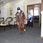 Antisipasi Covid-19, Pertamina Lakukan Penyemprotan Disinfektan di Area Kantor MOR VII