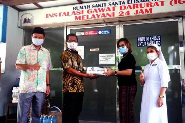 Pelindo 1 & IA ITB Sumut Salurkan Bantuan ke RS Santa Elisabeth Medan 1