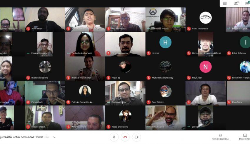 Ajak Komunitas Tetap Produktif Saat di Rumah, Honda Gelar Pelatihan Jurnalistik dan Konten Kreatif Secara Virtual 1