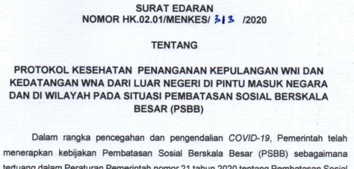 Protokol Kesehatan Ini Harus Dilalui oleh WNI dan WNA ke Indonesia 1
