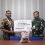 Salurkan Bantuan Sembako ke Masyarakat, Pelindo 1 Sinergi dengan Kodam I/BB