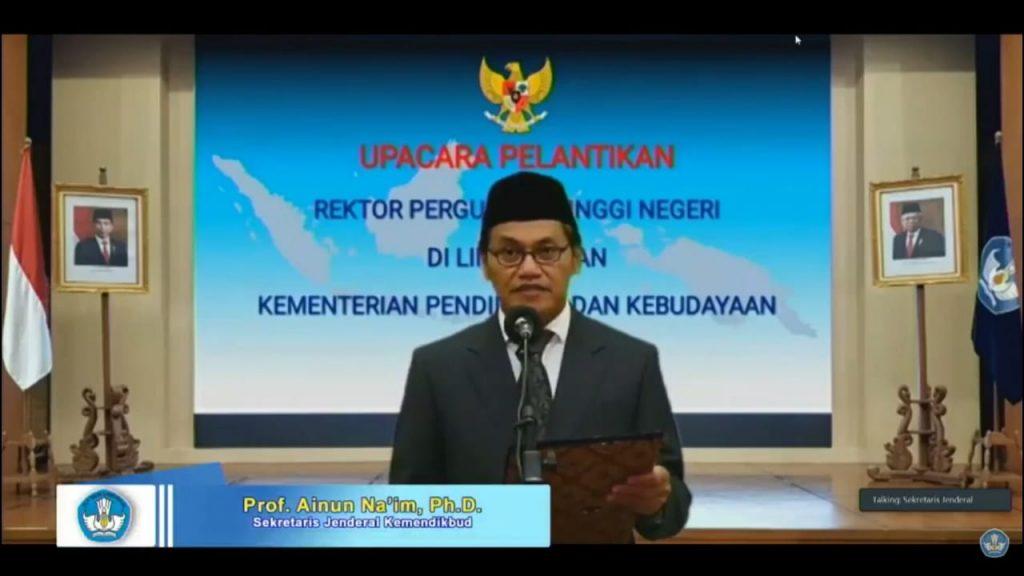 Sekretaris Jenderal Kemendikbud Lantik Tiga Rektor Perguruan Tinggi Negeri 1