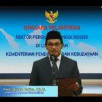 Sekretaris Jenderal Kemendikbud Lantik Tiga Rektor Perguruan Tinggi Negeri