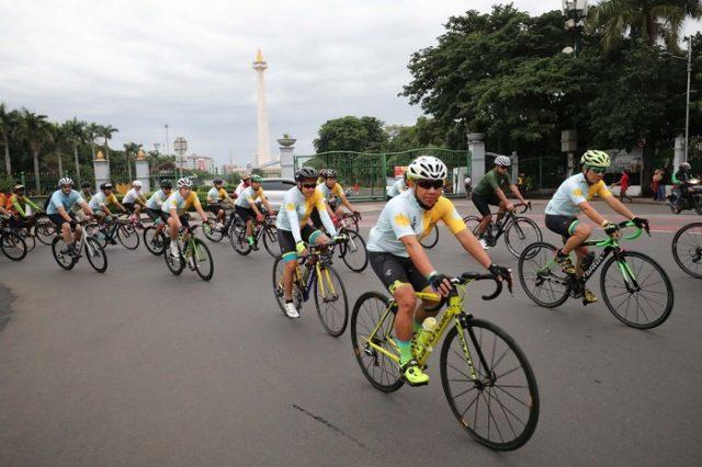 Dishub DKI Siapkan Lajur Sepeda untuk Berolahraga Akhir Pekan 1