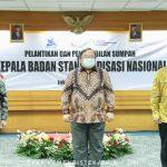 Menteri Bambang Brodjonegoro Lantik Kepala Badan Standardisasi Nasional dan 10 Pejabat Fungsional di Lingkungan Kemenristek/BRIN