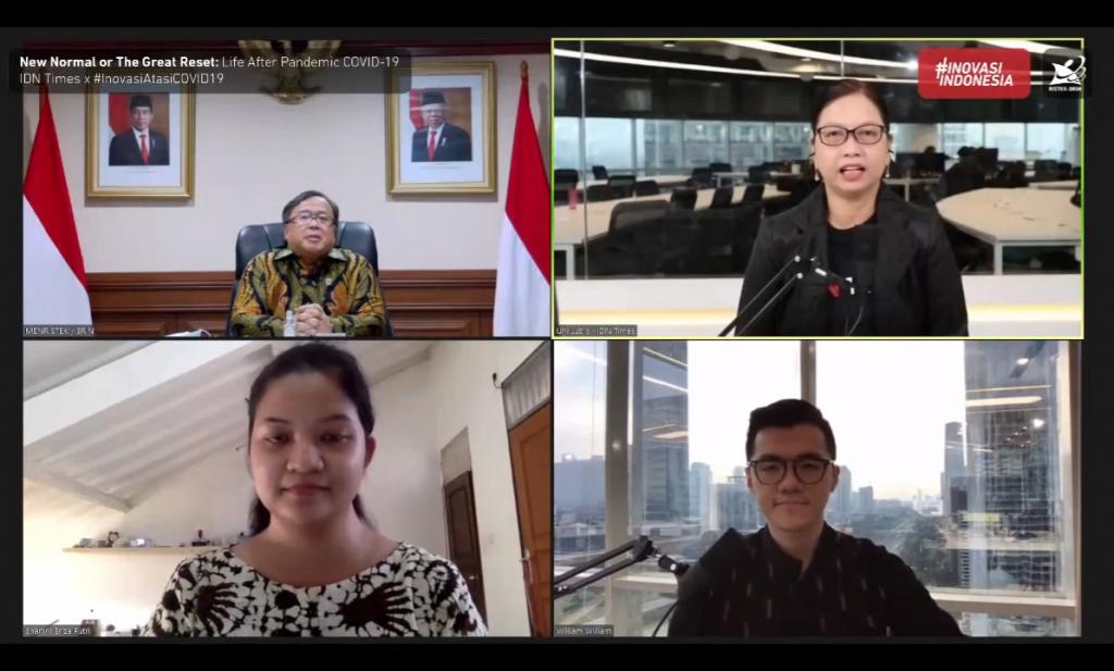 Menristek/Kepala BRIN: Peluang Startup Indonesia dalam Sepuluh Tren Baru Teknologi Selama New Normal 1