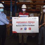 Pertamina Serahkan 305 Ventilator Untuk RS BUMN di Indonesia