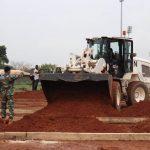 Satgas Kizi TNI Konga XXXVII / F Minusca Siapkan Lahan Tempat Pusat Penanganan Wabah Covid-19 di Republik Afrika Tengah
