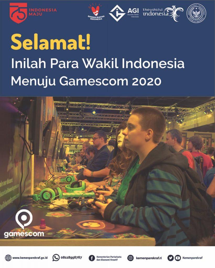 """16 Studio Game Wakili Indonesia di Pameran Game Terbesar """"Gamescom 2020"""" 1"""