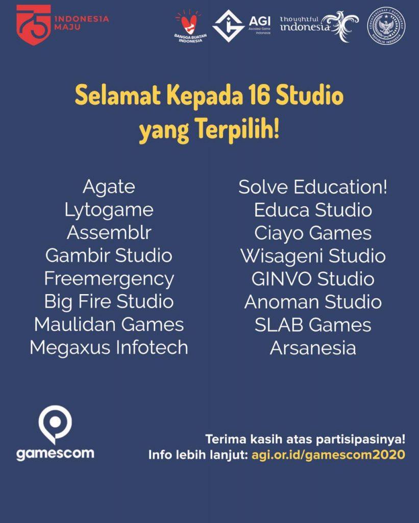 """16 Studio Game Wakili Indonesia di Pameran Game Terbesar """"Gamescom 2020"""" 2"""