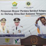 Dirut Pelindo IV Hadiri Pelepasan Ekspor Perdana Serabut Kelapa dari KNP