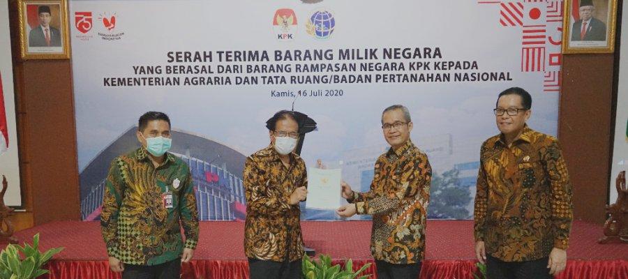 KPK Serahkan Aset Senilai Rp36 Miliar ke Kementerian Agraria dan Tata Ruang 1