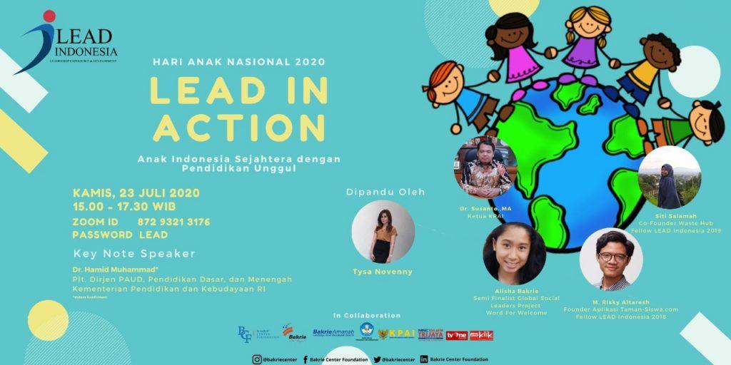 Lead In Action Hari Anak Nasional 2020: Sejahterakan Anak Indonesia dengan Pendidikan Unggul 1