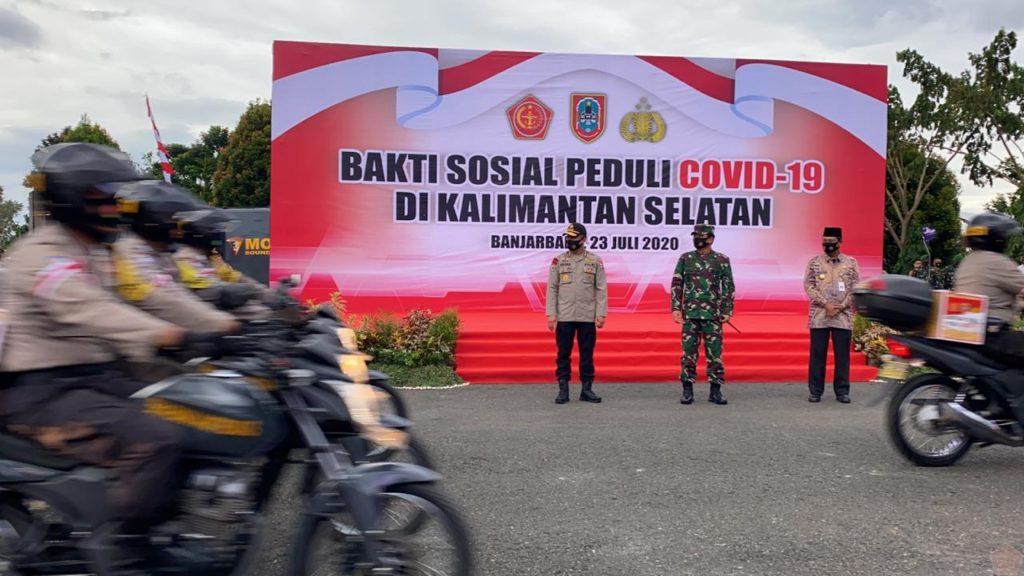Panglima TNI Melepas Ratusan Babinsa dan Bhabinkamtibmas Pengantar Bansos 1