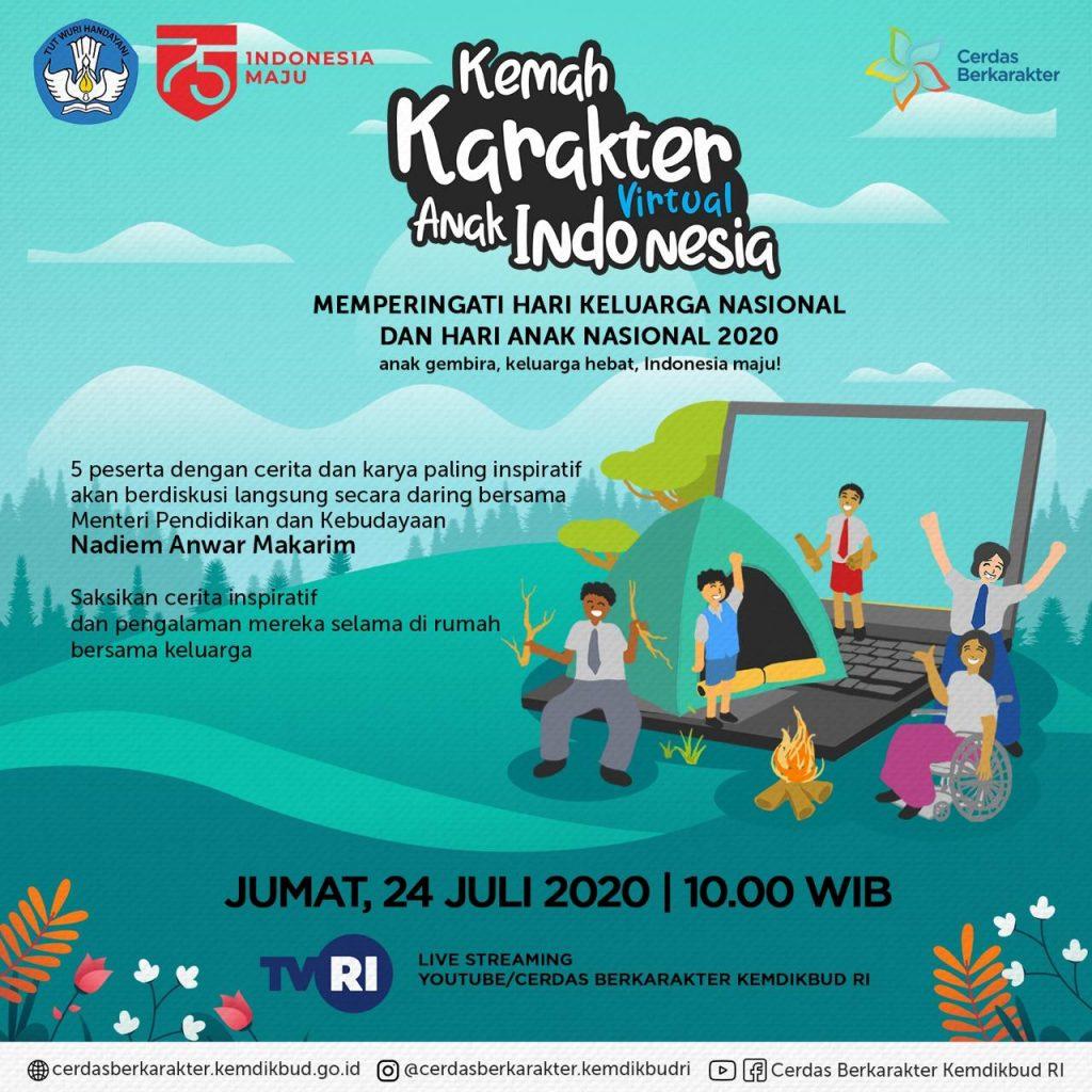 Hari Anak Nasional, Pesan Mendikbud: Situasi Sulit Kuatkan Semangat Belajar Anak Indonesia 2
