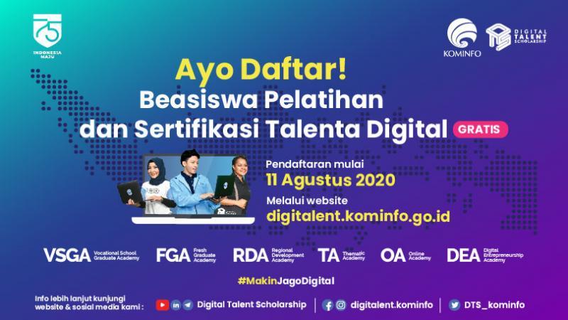 Beasiswa DTS 2020 Daring, Stimulus Kominfo untuk Ciptakan Talenta Digital 1