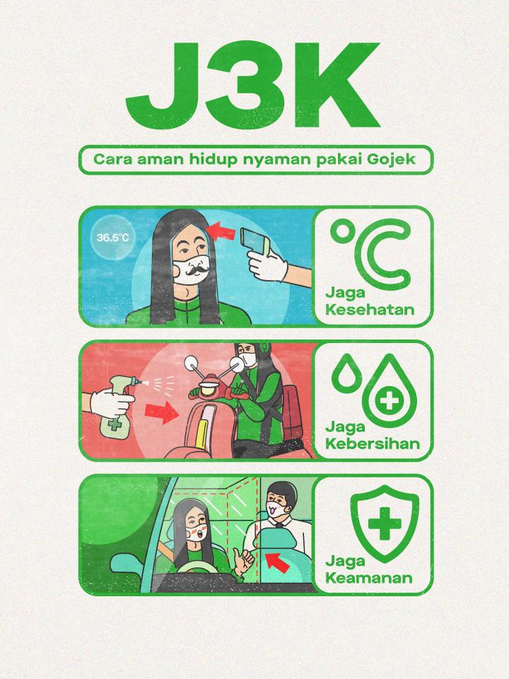 Jadi Andalan Masyarakat di Tatanan Hidup Baru, Gojek Luncurkan Inisiatif J3K 2