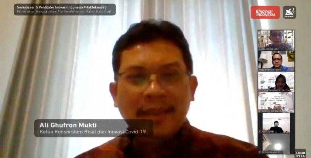 Kantongi Izin Edar, Kemenristek/BRIN Kenalkan 5 Ventilitator Inovasi Indonesia 1