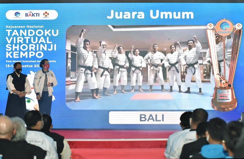 Kontingen Bali Rebut Juara Umum Kejurnas Virtual Tandoku Shorinji Kempo 1