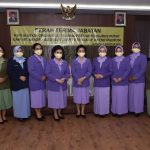 Ny. Nanny Hadi Tjahjanto Pimpin Sertijab Ketua Seksi Organisasi Dharma Pertiwi
