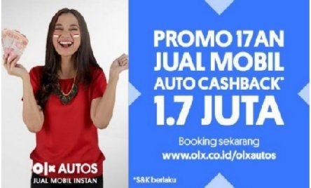 Pasar Mobil Bekas Berangsur Pulih, OLX Autos Berikan Auto Cashback 1.7 Juta untuk Meriahkan Hari Kemerdekaan 1