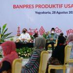 Presiden Jokowi Serahkan Banpres Produktif Usaha Mikro untuk para Pelaku Usaha di Yogyakarta