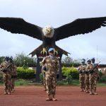 Satgas Kizi TNI Konga XXXVII/F Laksanakan Upacara HUT Kemerdekaan RI Ke-75 di Afrika Tengah