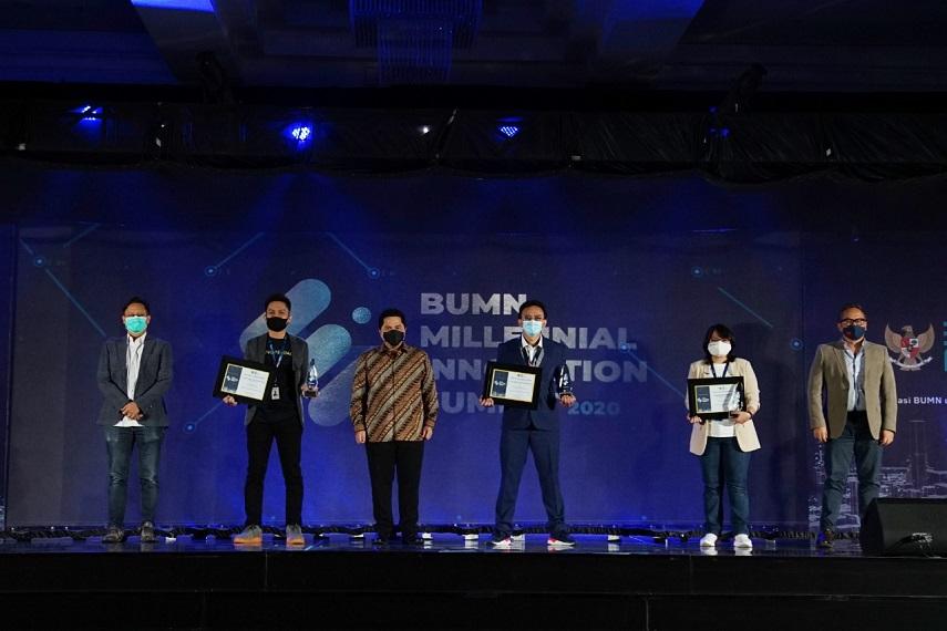 Terus Inovatif, Erick Thohir Berikan Penghargaan Pada Milenial BUMN 1