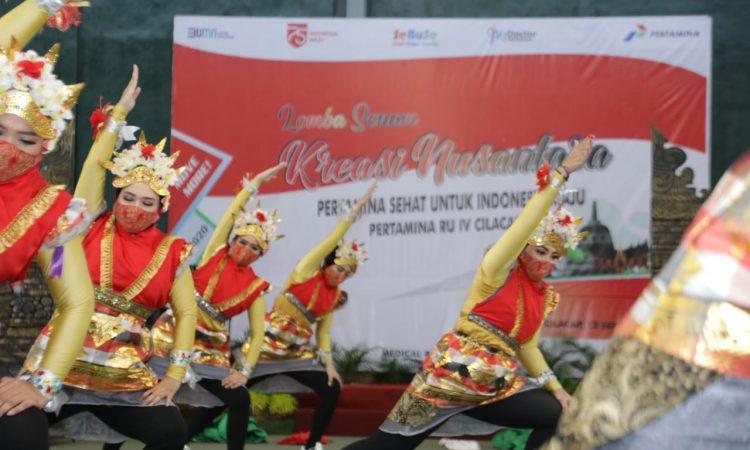 Jaga Imunitas & Adu Kreativitas, Pertamina Kilang Cilacap Gelar Lomba Kreasi Senam Nusantara 1