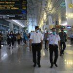 Menhub Tinjau Bandara Soekarno-Hatta, Apresiasi Penerapan Protokol Kesehatan Cegah COVID-19