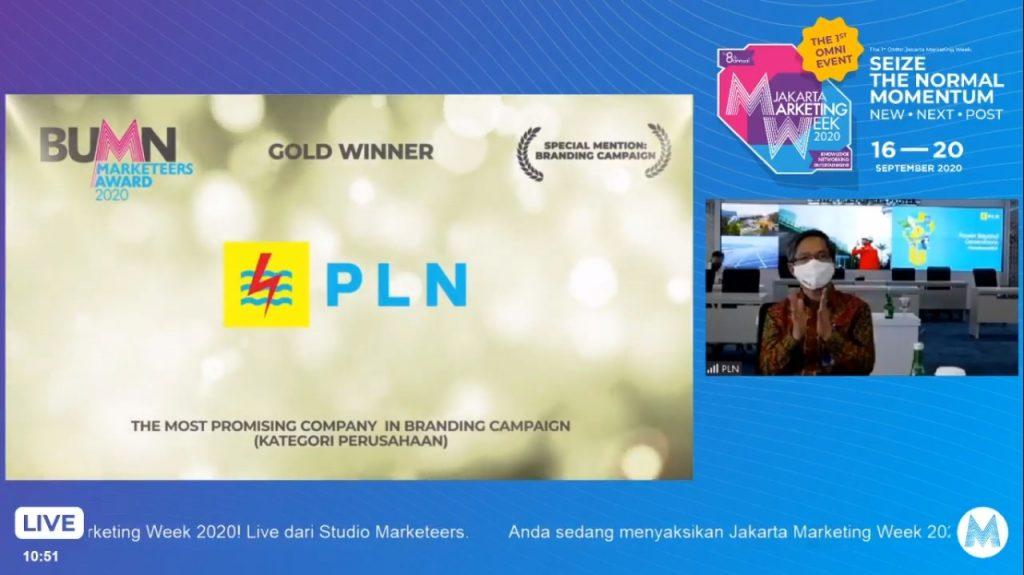 PLN Raih 3 Penghargaan di Ajang BUMN Marketeers Award 2020 1