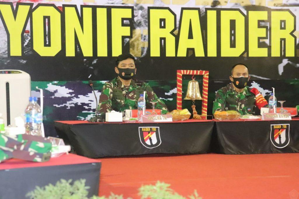 Panglima TNI Tatap Muka dengan Prajurit Yonif Raider 700/WYC 1