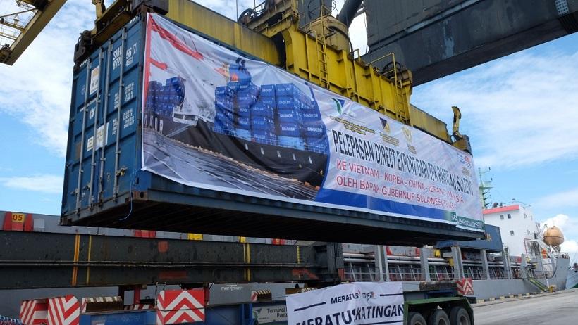 Pelindo IV Launching Direct Export Perdana dari Pantoloan 1