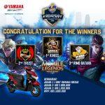Ini Dia Jagoan Mobile Legend Yamaha Generasi 125 E-Sport Competition (YGEC) 2020 !